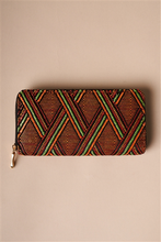 Orange Multi-colored Zipper Wallet