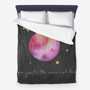 Love You To The Moon And Back Microfiber Duvet Cover