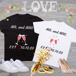 Mr. & Mrs. Cheers Wedding T-Shirt