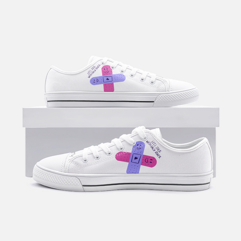 Let's Stick With Each Other Low Top Canvas Shoes