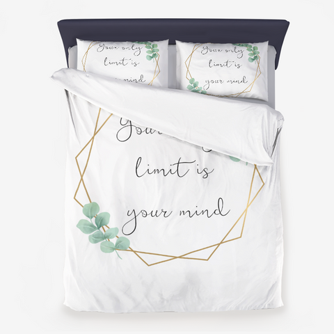 Your only limit is your mind Microfiber Duvet Cover