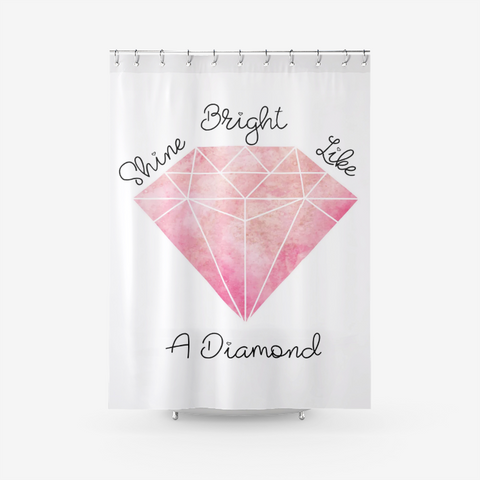 Beautiful Pink Diamond Textured Shower Curtain