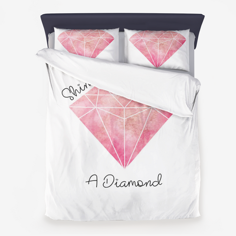 Shine Bright Like A Diamond Microfiber Duvet Cover