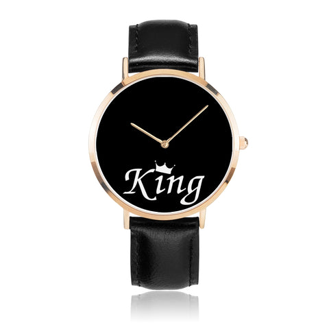 King - Premium Leather Strap Watch