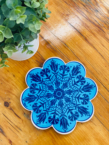 Turkish trivets flower shaped