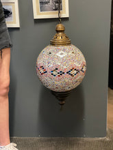 Load image into Gallery viewer, Turkish Handmade Ceiling Lamp - multicoloured, mirror