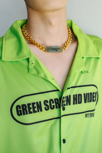 M1992 Short Sleeve Green Screen HD Video Short Sleeve shirt