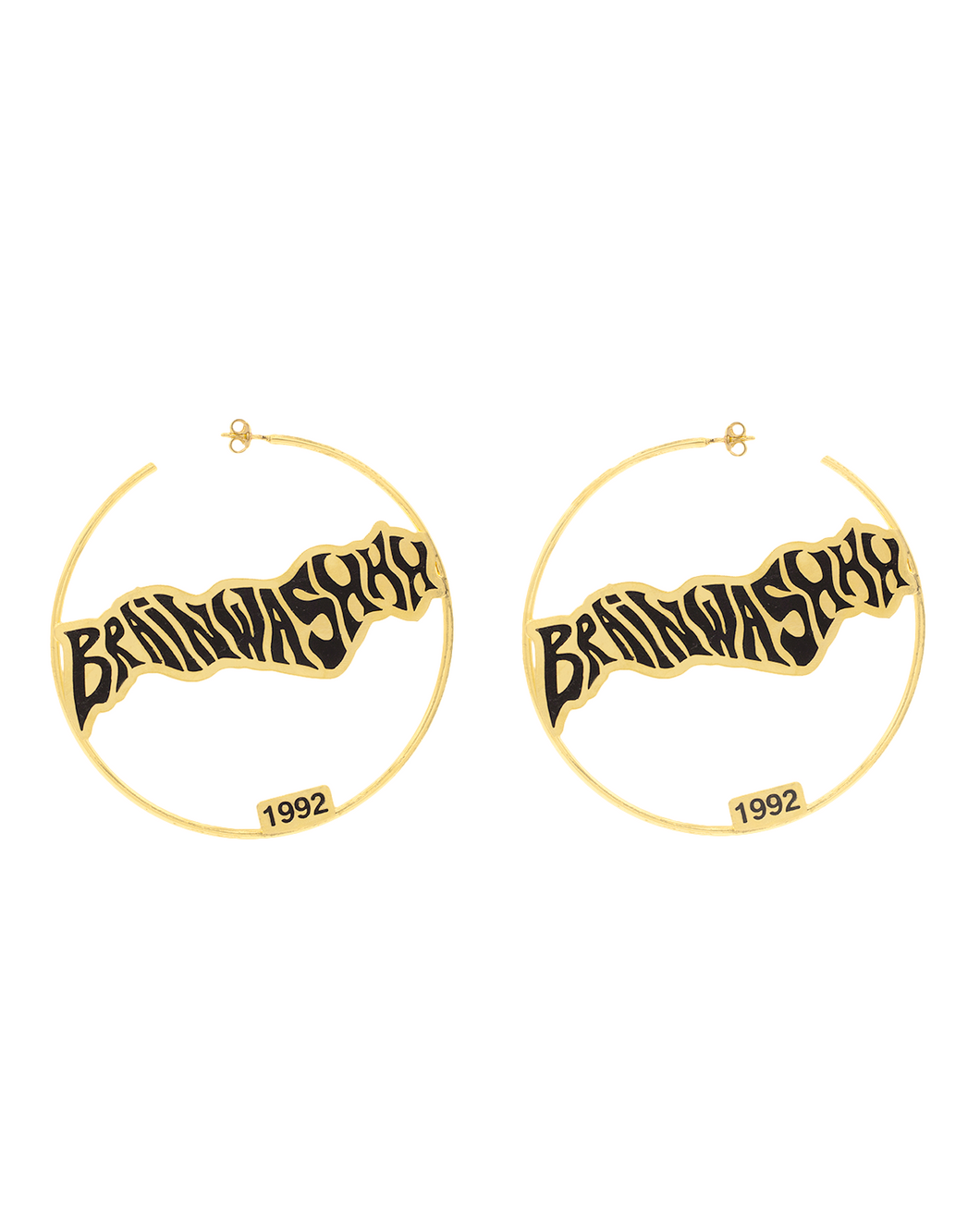 Brainwashhh Hoop Earrings available in Gold & Silver plating