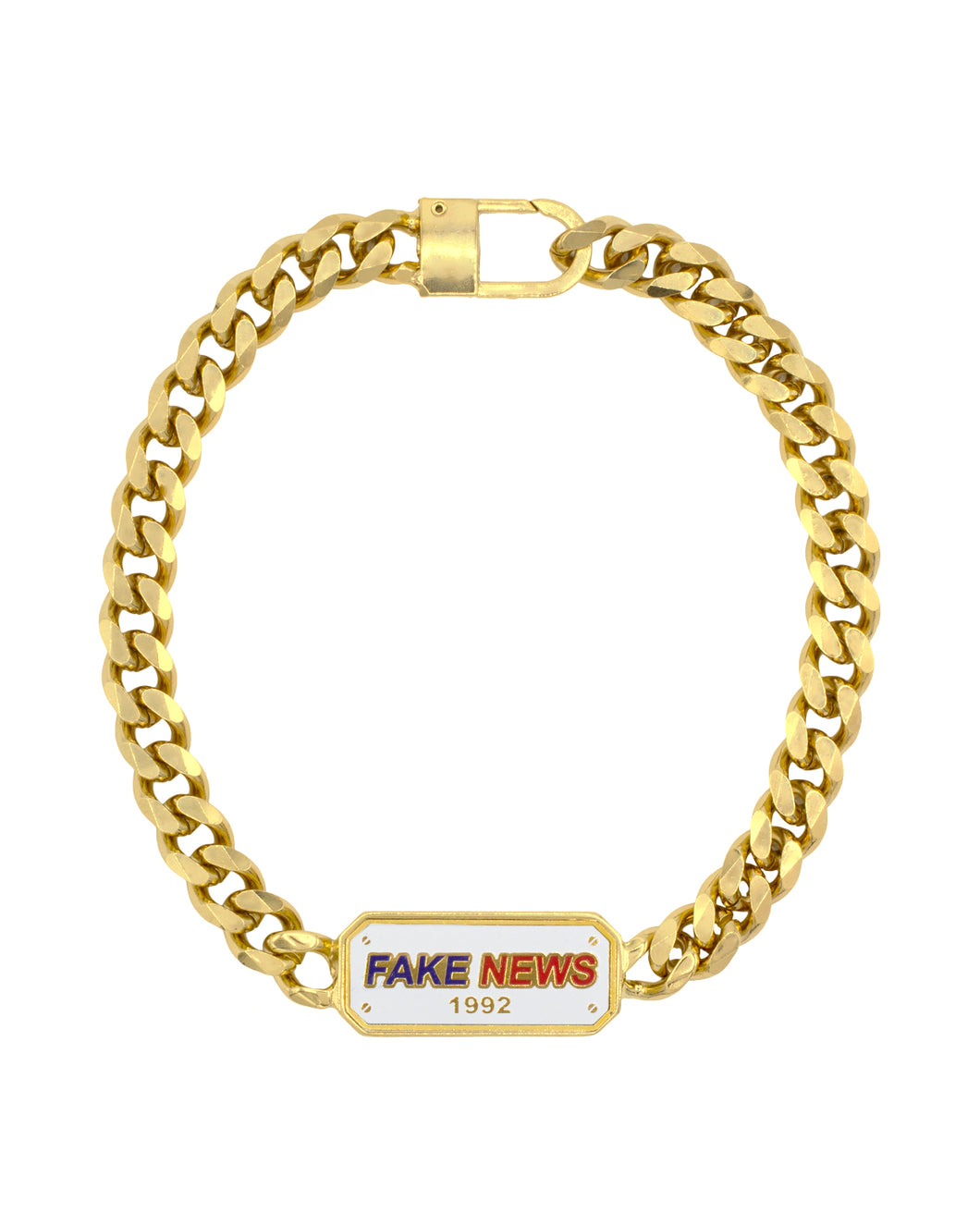 Fake News Brass Chain available in Gold plating & Silver Plating