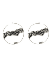 Load image into Gallery viewer, Brainwashhh Hoop Earrings available in Gold & Silver plating