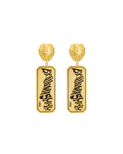 Brain Charm Brainwashhh Earring available in Gold & Silver plating