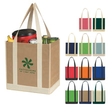 Load image into Gallery viewer, 12x13x8 NON-WOVEN TOTE - CONTRASTING HANDLES