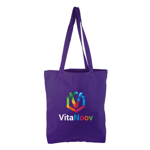 15x18x6 COLORFUL COTTON TOTE - LONG STRAPS
