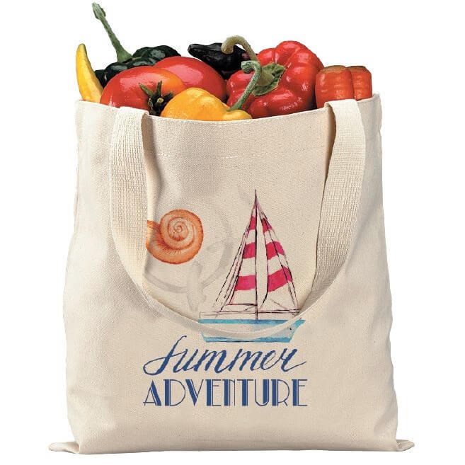 16x15 HEAVY-WEIGHT FLAT COTTON TOTE