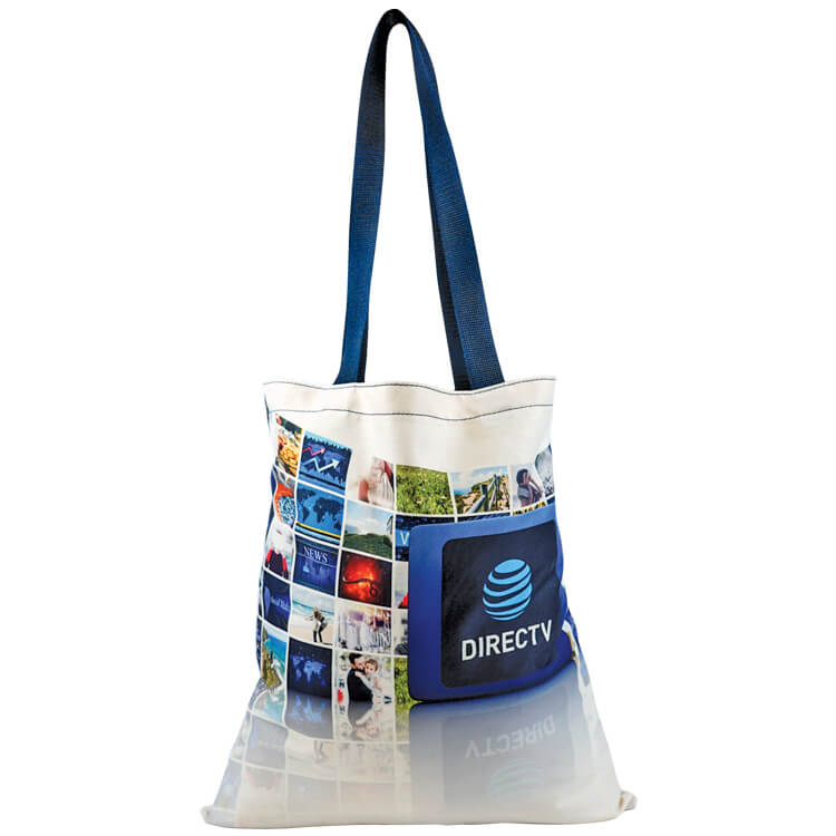 18x18 COTTON TOTE WITH FULL-COLOR IMPRINTING