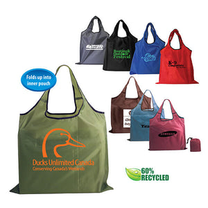 19x15 RECYCLED RPET COMPACT TOTE BAG