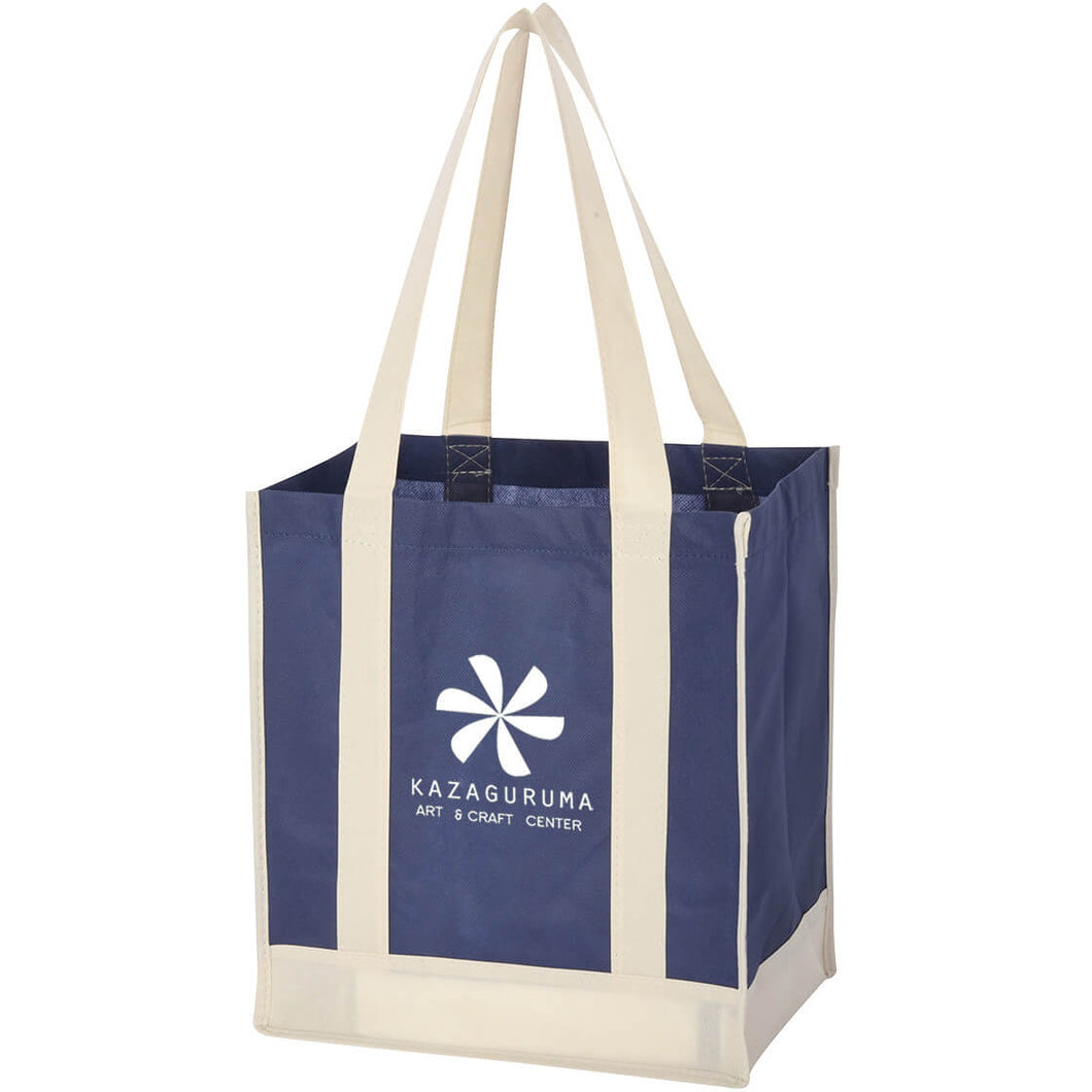 12x13x8 NON-WOVEN TOTE - CONTRASTING HANDLES