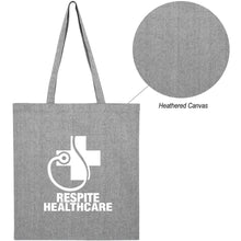 Load image into Gallery viewer, 15x16 HEATHERED COTTON FLAT TOTE BAG