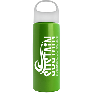26 OZ FLAIR BOTTLE WITH OVAL CREST LID