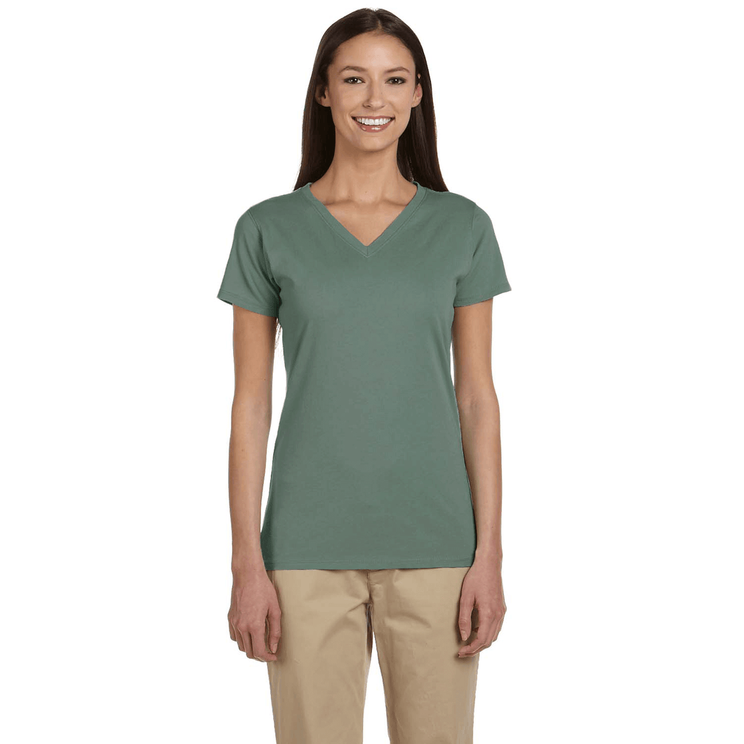 ORGANIC COTTON LADIES V-NECK T-SHIRT