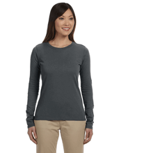 Load image into Gallery viewer, ORGANIC COTTON LADIES LONG SLEEVE T-SHIRT