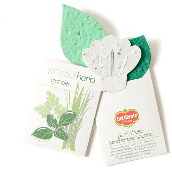 HERB SEEDED PAPER SHAPES - MADE IN USA