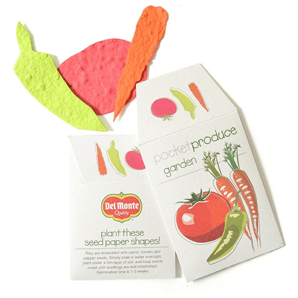 VEGGIE SEEDED PAPER SHAPES - MADE IN USA