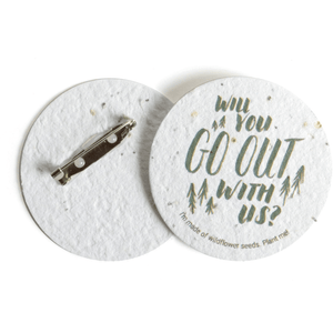 SEED PAPER 2-INCH BUTTON - MADE IN USA