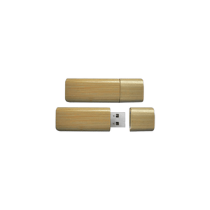 SLEEK ROUNDED BAMBOO USB FLASH DRIVE