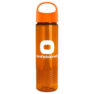 24 OZ WATER BOTTLE WITH WAVE PATTERN