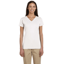 Load image into Gallery viewer, ORGANIC COTTON LADIES V-NECK T-SHIRT