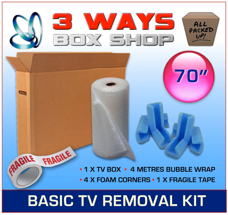 House Removal TV Plasma Picture Frame Cardboard Protection Box Kit 3 Ways Box Shop