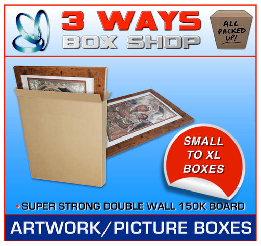 Picture Cardboard Boxes for Artwork Double Wall Boxes 3 Ways Box Shop Peterborough