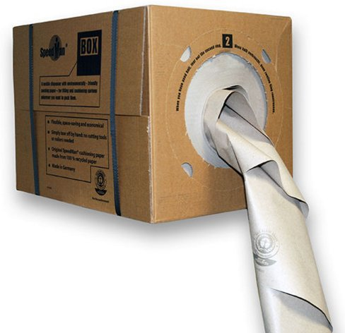 Speedman Box - Void Fill Recycled Paper - Manual Low Cost Packing Paper - Environmentally Friendly light weight packaging Protect fragile items in post