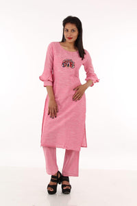 Praman patchwork work kurti with pent