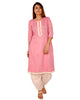 Praman Women HandWork Mirror Cotton Pintex Casual Kurti ( Pink)