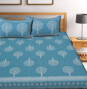 Praman buta printed bedsheet with pillow cover