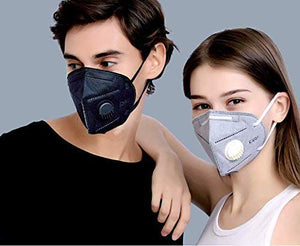 Pramanfab Non-NIOSH approved KN95 Masks - 4 Layer Filter Protection Pack of 3