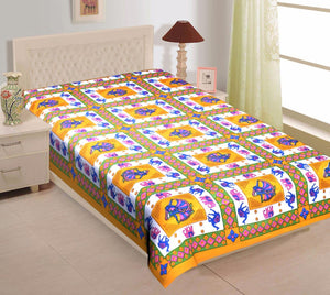 praman dancing girl print single bed bedsheet ( pair )