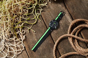 Black/Green recycled NATO strap