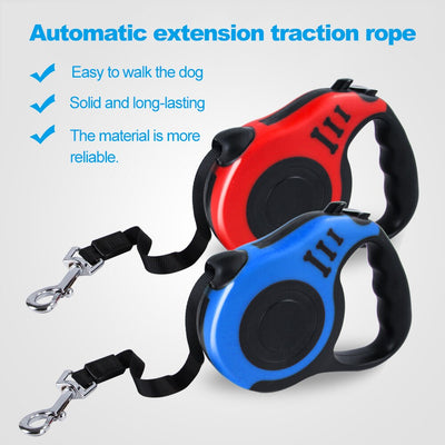 9ft/16 ft Retractable Automatic Dog Leash - Posh Pooch Accessories