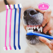 4 pack Dual Headed Toothbrush - Posh Pooch Accessories