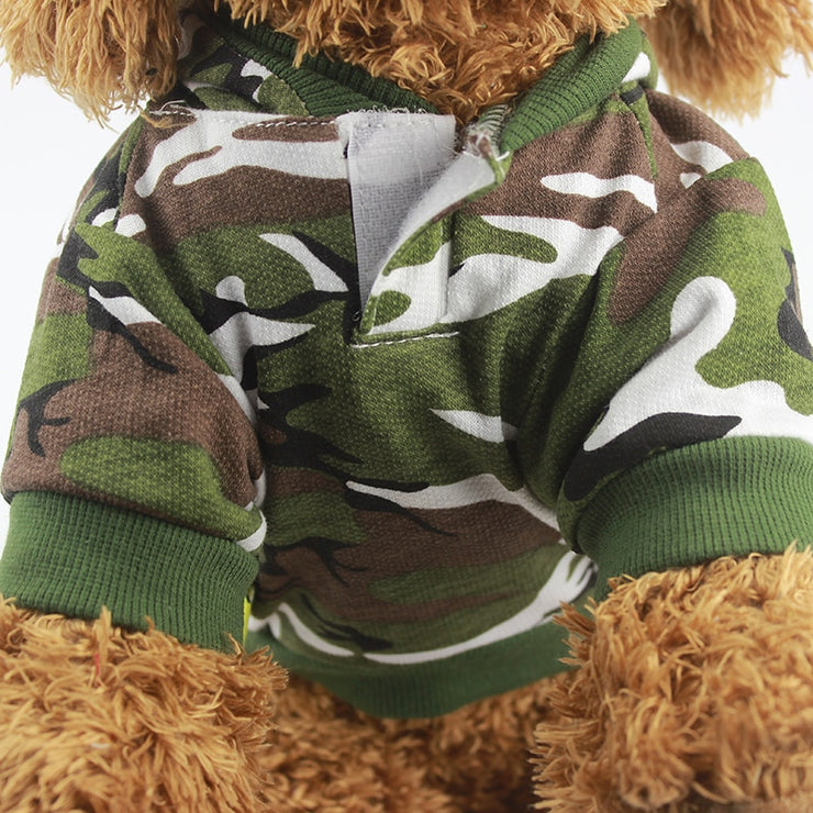 Camouflage Hoodie Sweater - Posh Pooch Accessories