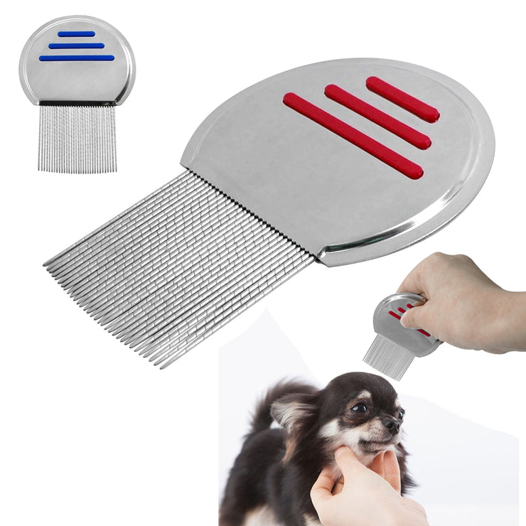 Cat Flea Comb Stainless Steel Puppy Dog Grooming - Posh Pooch Accessories