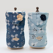 Dog Coat Jacket Dress Denim Floral Pet Puppy Hoodie Winter Warm - Posh Pooch Accessories