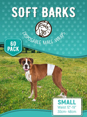 Disposable Male Wrap Dog Diapers Simple and Convenient, Small 60 Count - Posh Pooch Accessories
