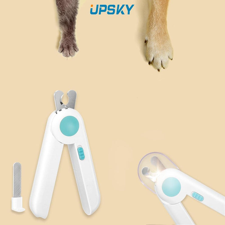 LED Pets Nail Clippers With Free Nail File Non-slip Sharp Pet Grooming - Posh Pooch Accessories