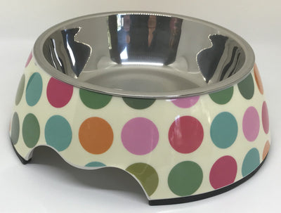 Polka Dot Medium Size Dog Bowl - Posh Pooch Accessories