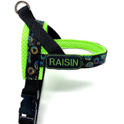 Personalized neon tie dye one-click harness - Posh Pooch Accessories