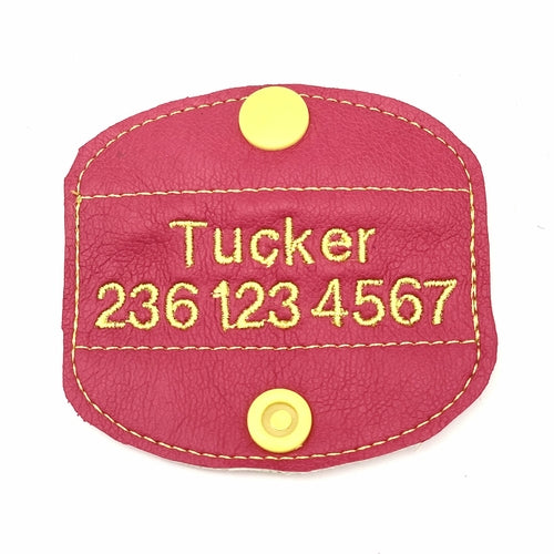 Personalized dog ID tags/patches - Posh Pooch Accessories